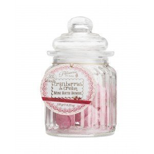 Patisserie de Bain Mini Bath Bombs Cranberries & Cream Sweetie Jar
